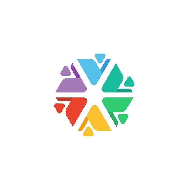 People work together social gathering team community union logo Premium Vector
