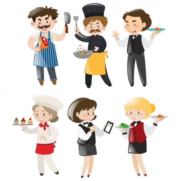 People working collection Free Vector