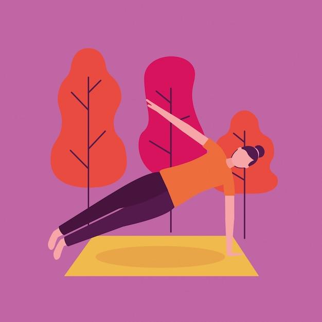 Attività di yoga delle persone Vettore gratuito