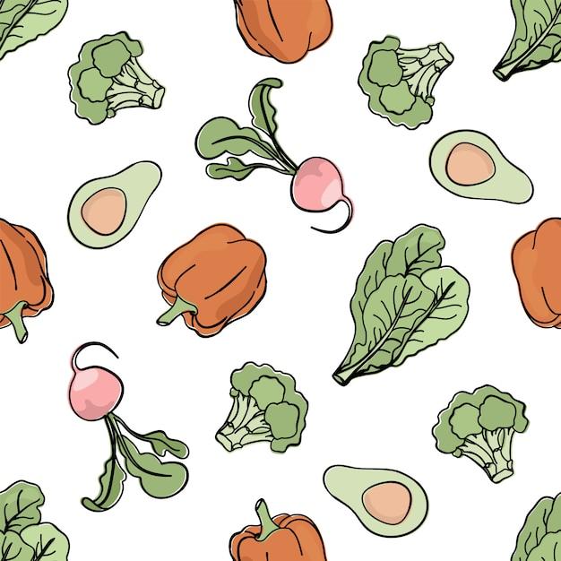 Pepper backdrop paleo seamless pattern Premium Vector