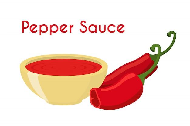 Pepper sauce Premium Vector