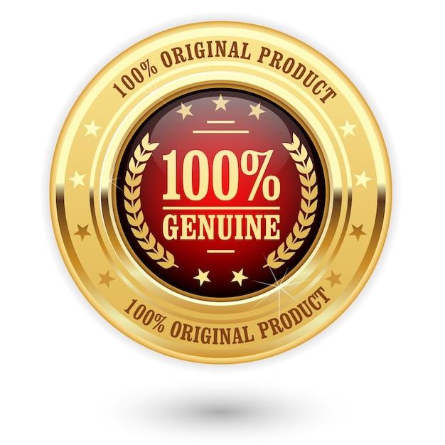本物のパーセント製品-金の記章(メダル) Premiumベクター