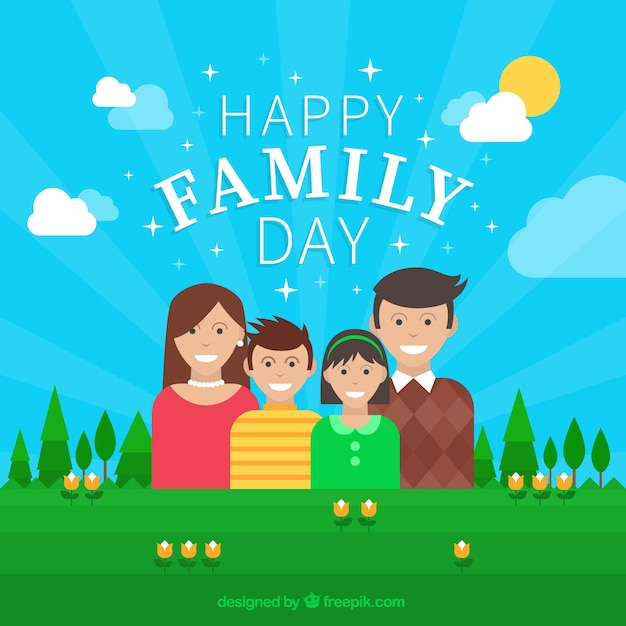 Perfect Family Day Background Free Vector