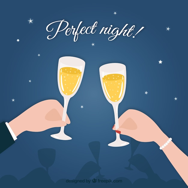 Perfect night! Free Vector