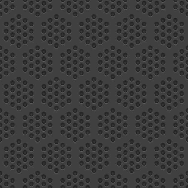 Perforated material seamless pattern background Premium Vector
