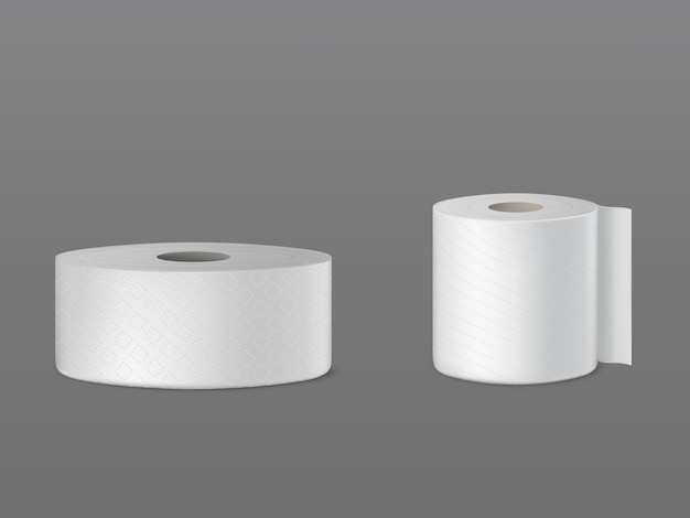 Perforated toilet paper rolls, disposable kitchen towels, wiper for dust cleaning Free Vector