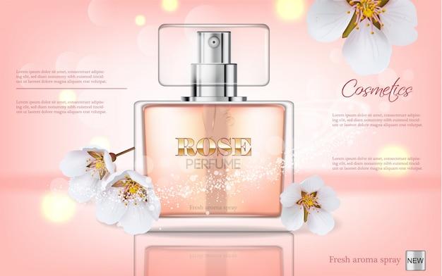 Perfume bottle Premium Vector