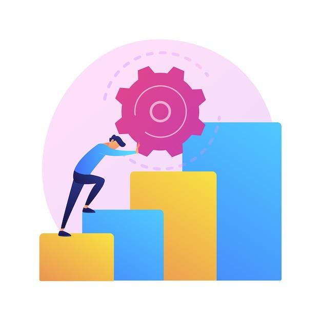 Иллюстрация абстрактной концепции настойчивости. настойчивость, личные качества, настойчивые действия, мотивация в спорте, деловая настойчивость, решимость достичь цели. Бесплатные векторы