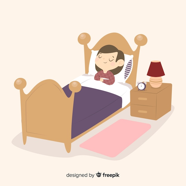 Person sleeping Free Vector