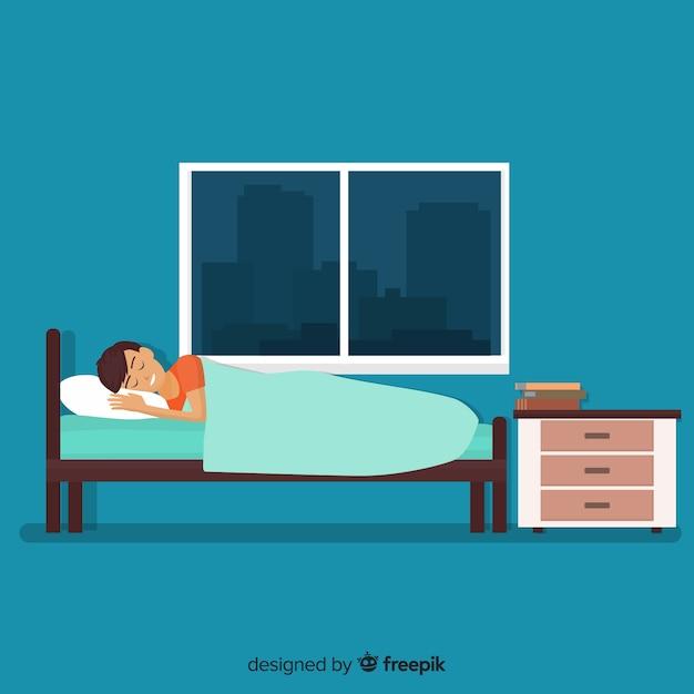 Person sleeping Free Vector