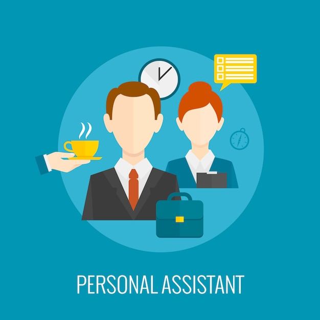 Personal assistant icon Free Vector