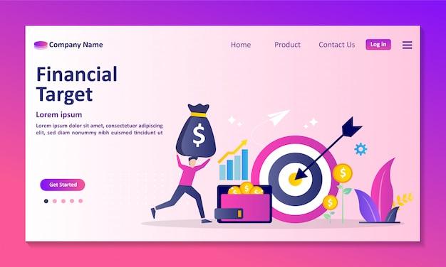 個人の信用スコア情報と財務格付けのランディングページ Premiumベクター