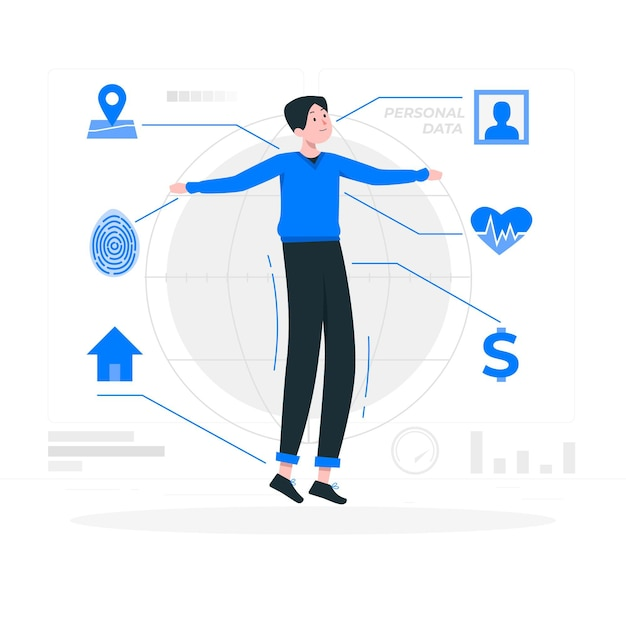 Personal data concept illustration Free Vector