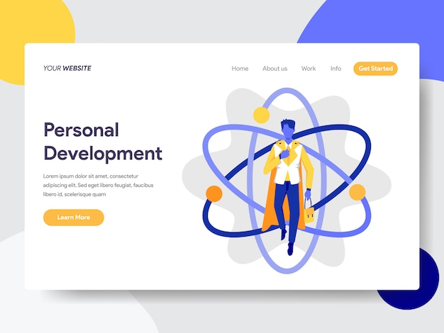 Personal development for web page Premium Vector