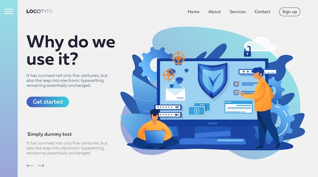 Personal digital security Free Vector