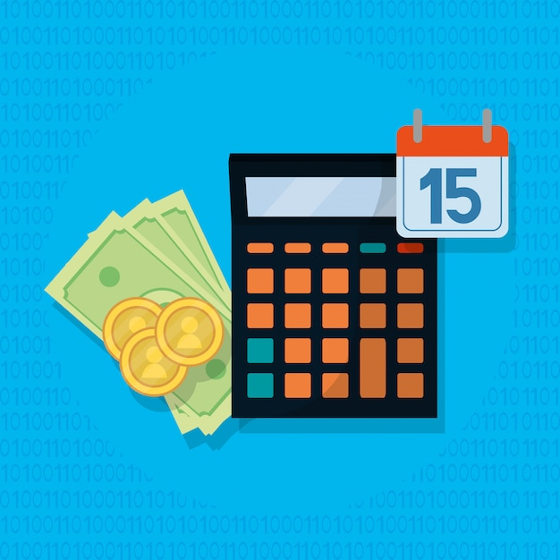 Personal finance cartoon Premium Vector