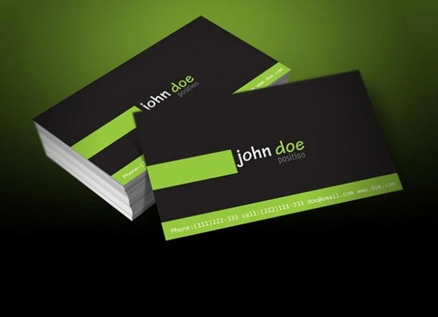 Personal Greenblack Business Card Template Vector Free Download - Personal business cards templates free