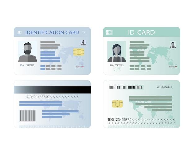 個人識別カード、idカード。 Premiumベクター