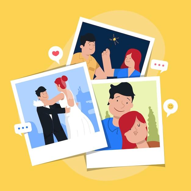 Personal memories concept Premium Vector