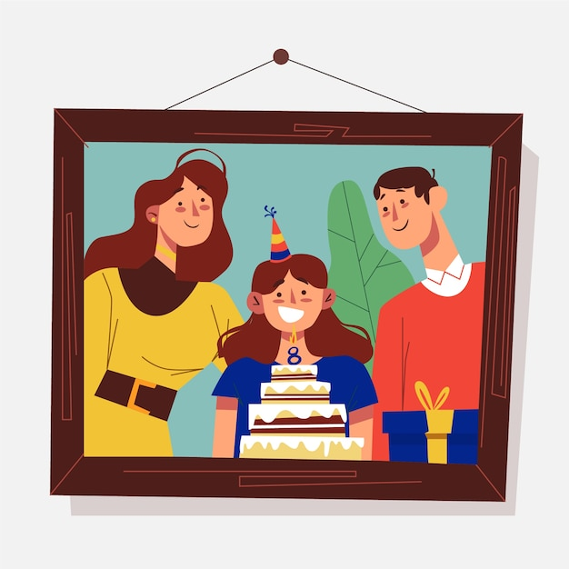 Personal memories theme for illustration Free Vector