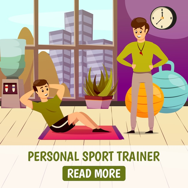 Personal sport trainer Free Vector