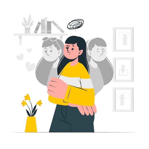 Personality disorder concept illustration Free Vector