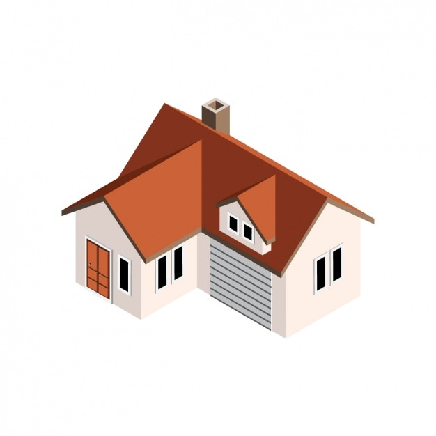 Perspective House Design Free Vector