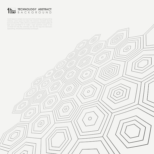 Perspective of pentagonal pattern Premium Vector