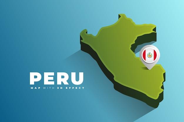 Peru map location pin Premium Vector