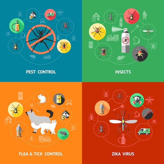 Concetto di controllo dei parassiti Vettore gratuito