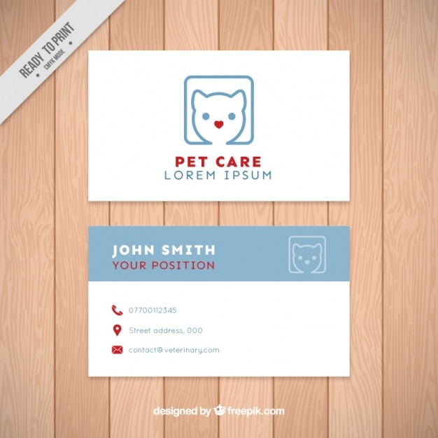 Pet Care Business Card Vector Free Download