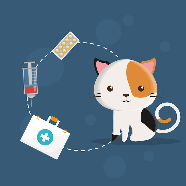 Pet care center service icons Premium Vector