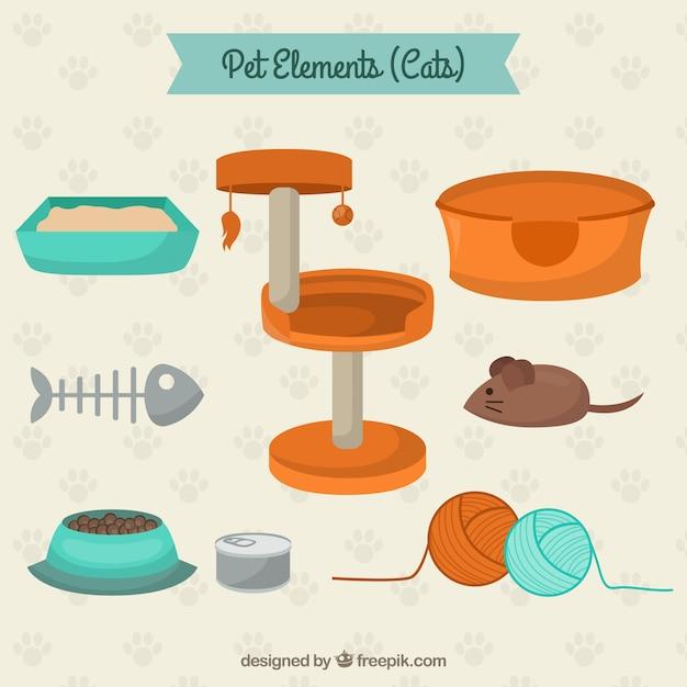 Pet elements fot cats
