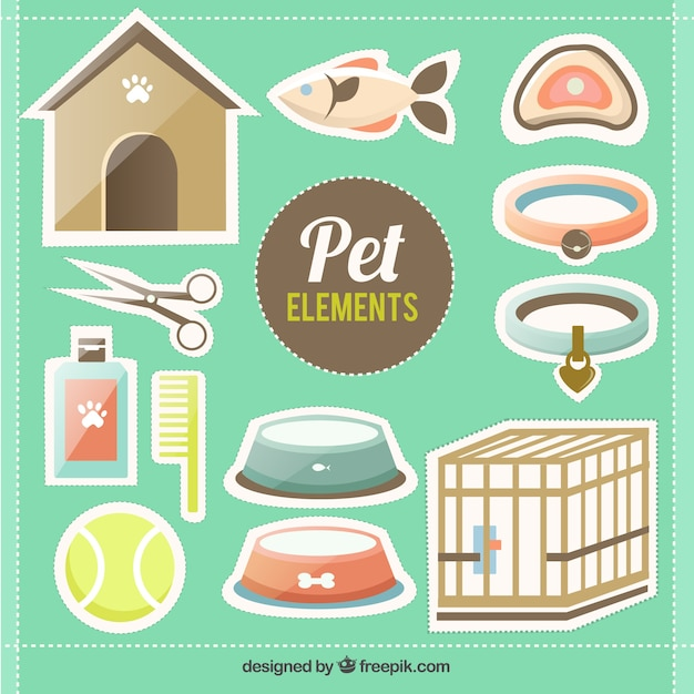 Pet elements Free Vector