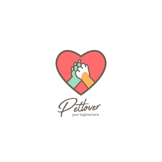Pet lover logo Premium Vector