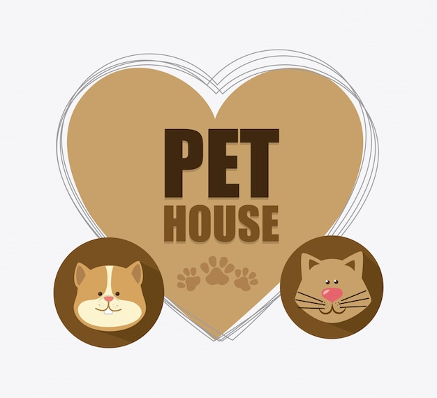 Pet shop design. Free Vector