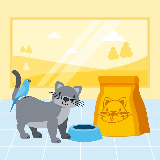Pet shop related Free Vector