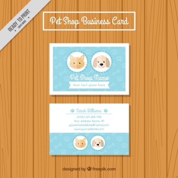 Pet store business card vector free download pet store business card free vector reheart Images