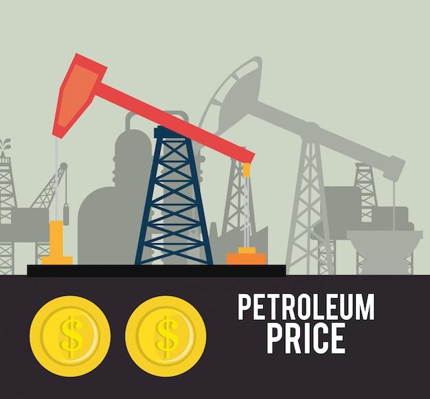 石油および石油産業の価格 無料ベクター