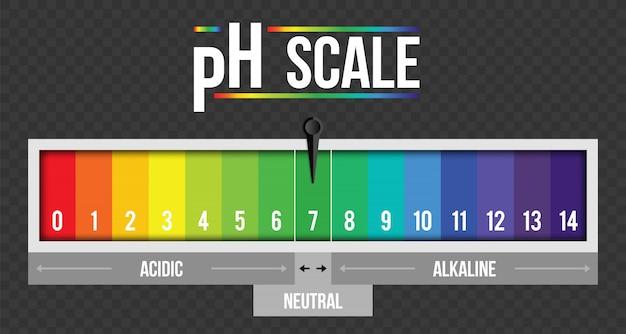 Ph scale value infographic, litmus paper element Premium Vector