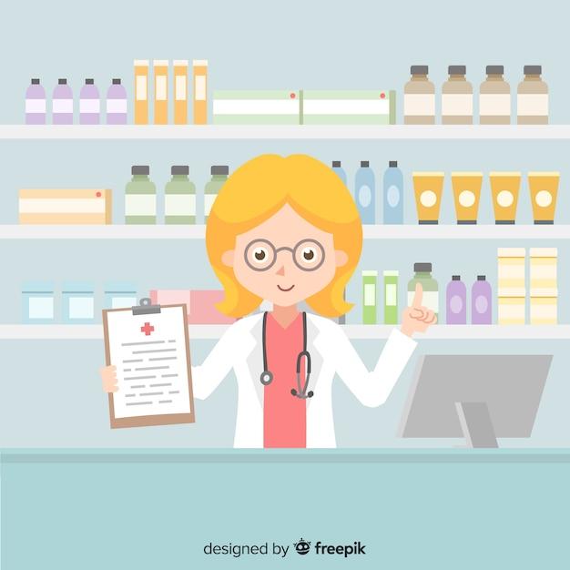 Pharmacist Free Vector