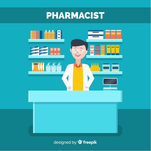 Pharmacist Free Vector