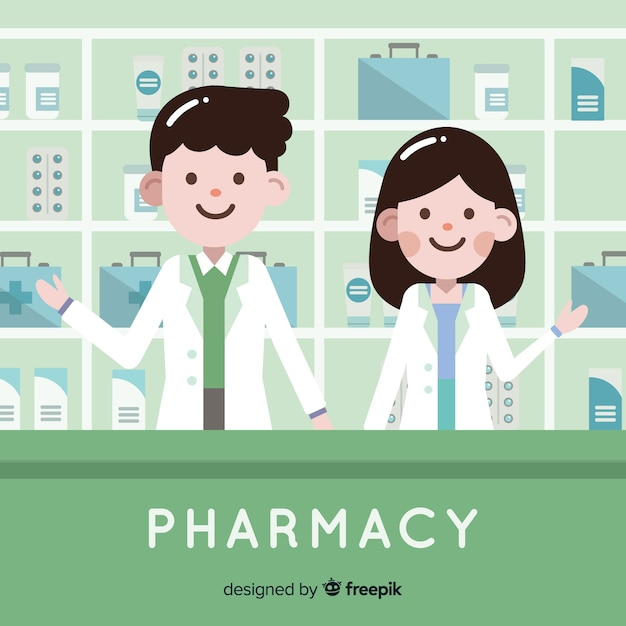 Pharmacists Free Vector