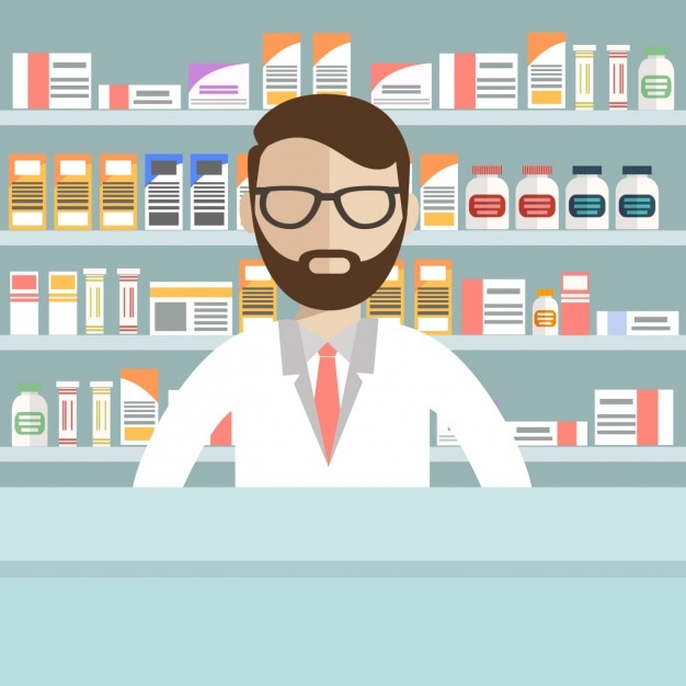 Pharmacy background design Free Vector