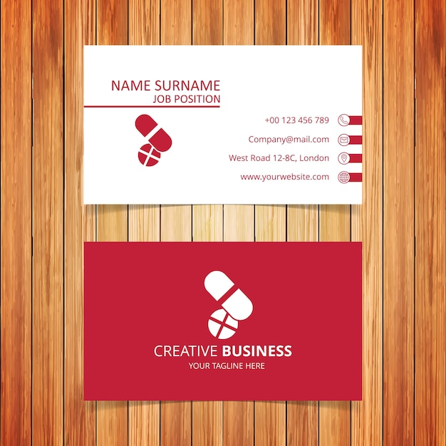 pharmacy business card free vector - Pharmacy Business Cards