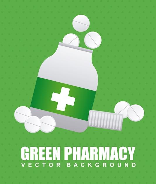 Pharmacy graphic design Free Vector