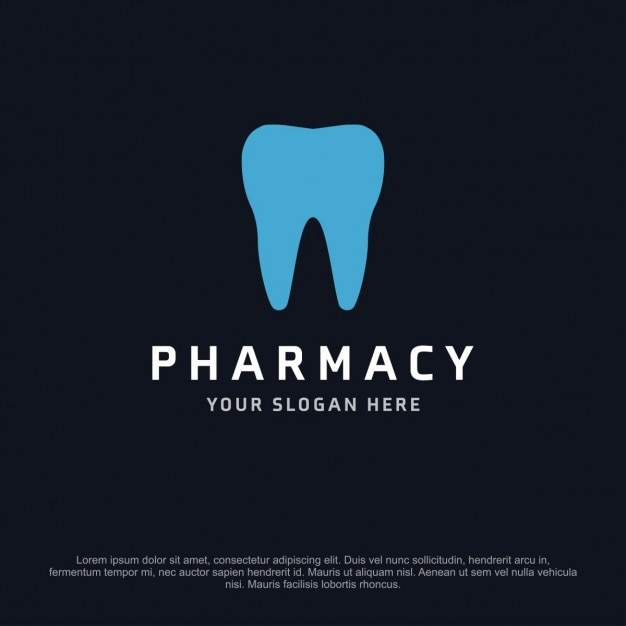 Pharmacy logo with a tooth Free Vector