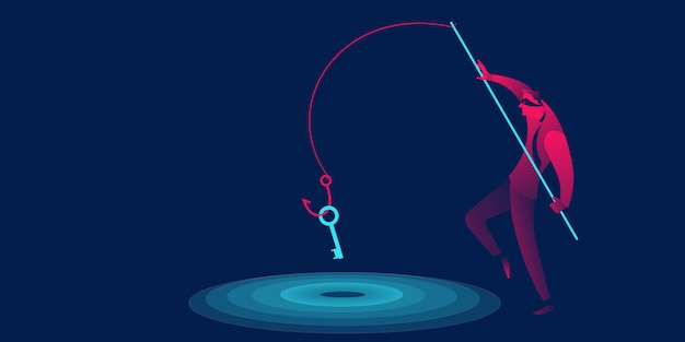 Phishing, scam, hacker business concept Premium Vector