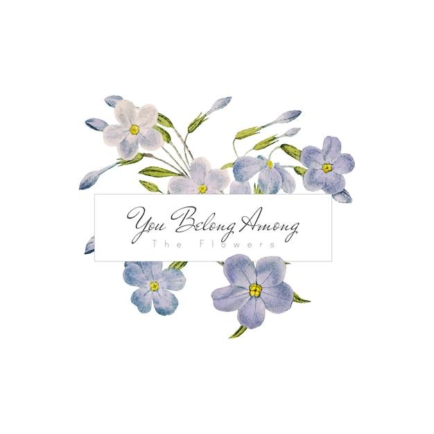Phlox flowers banner Free Vector