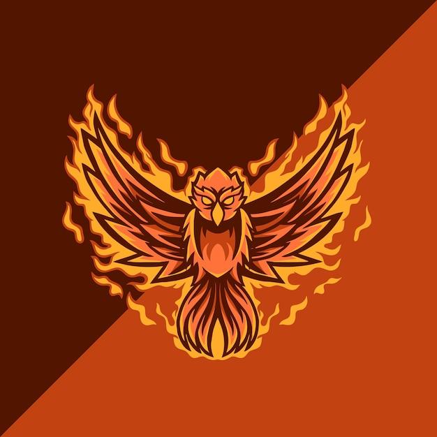 Phoenix esport mascot logo Premium Vector